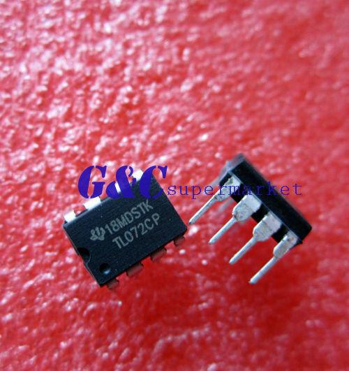 50PCS IC TL072CP TL072 DIP-8 chorus delay OP AMPS NEW DATE CODE