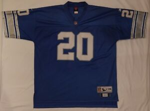 bce01dfd032 Image is loading BARRY-SANDERS-Detroit-Lions-20-Reebok-Throwback-SEWN-