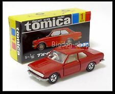 TOMICA BLACK BOX #1 NISSAN NEW BLUEBIRD SSS C. 1/60 TOMY DIECAST CAR NEW