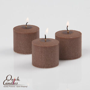 24-Brown-Votive-Candles-10-Hour-Burn-Clean-Smokeless