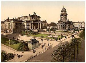 Berlin-Gendarmenmarkt-ca-1890-Papier-Leinwand