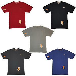 Skechers-Work-T-Shirt-Tee-constructores-de-peso-pesado-de-Bolsillo-Workwear-para-hombre-SW-14500