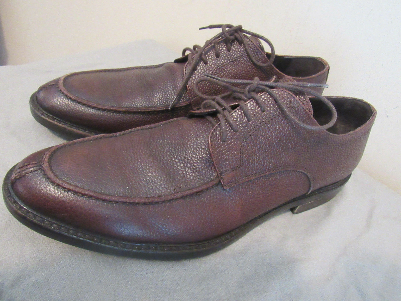 TO BOOT NEW YORK BROWN LEATHER MEN'S SHOES SIZE 10 GREAT CONDITION-MADE IN ITALY
