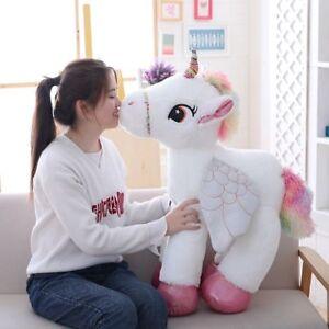 50 60 90cm Unicorn With Wings Plush Toy Giant Stuffed Animal Horse