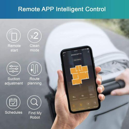Moosoo MT-710 Automatic Smart Robot Vacuum Cleaner//Slim Support Alexa /& Google