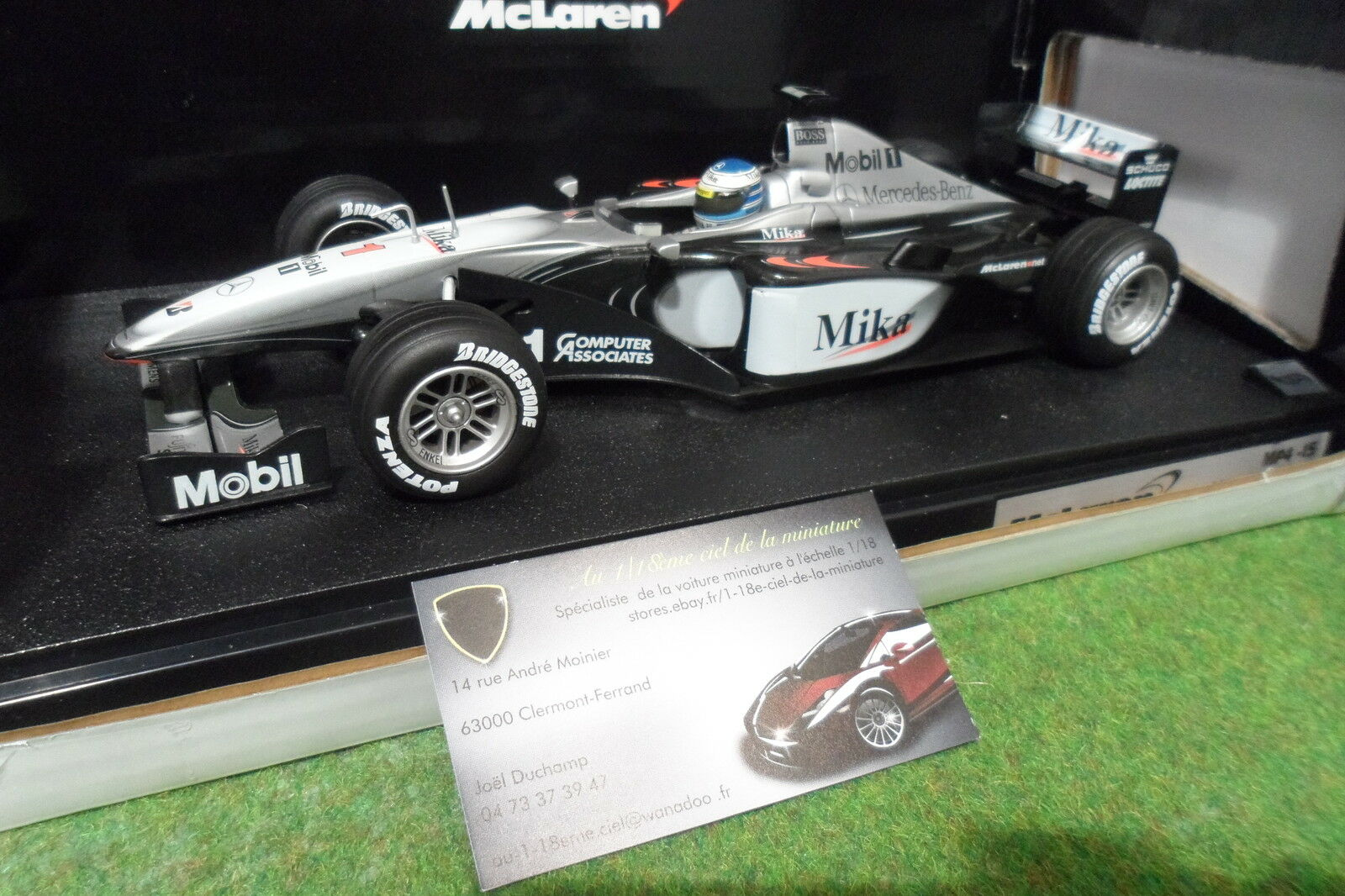 F1 McLAREN MP4-15  1 HÄKKINEN 2000 au 1 18 HOT WHEELS 26739 formule 1 voiture