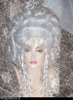 Sin City Wigs White Up Do Drag Queen Big Hair Marie Antoinette Stunning Style