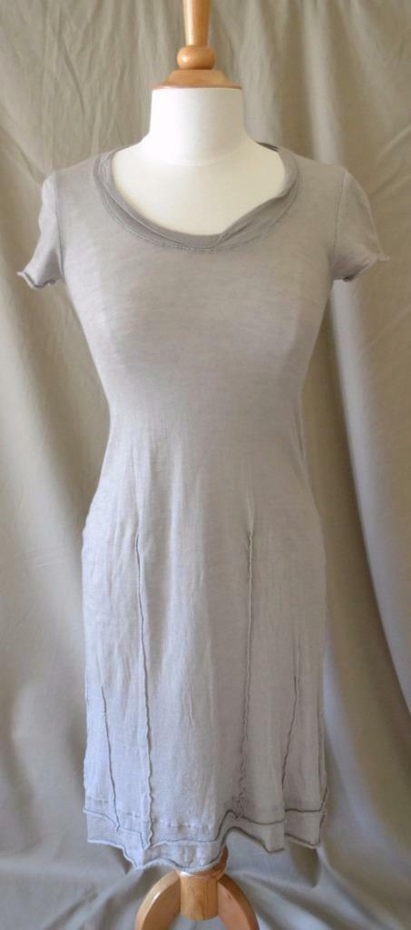 Kristensen du Nord Taupe Knit Dress Cotton Cashmere Silk Size 2