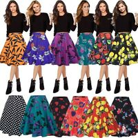 Women 1940 1950s Retro Full Circle Rockabilly Jive A Line Swing Midi Skirt Dress