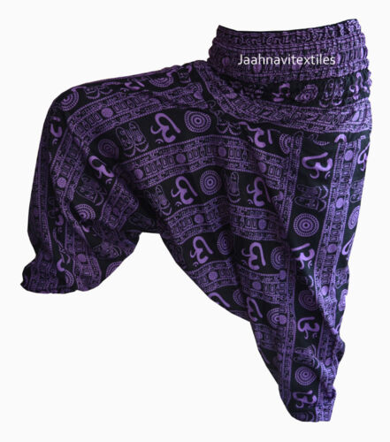 hippie Dance Trouser indian Harem Pant Om Cotton AliBaba Print Baggy Printed
