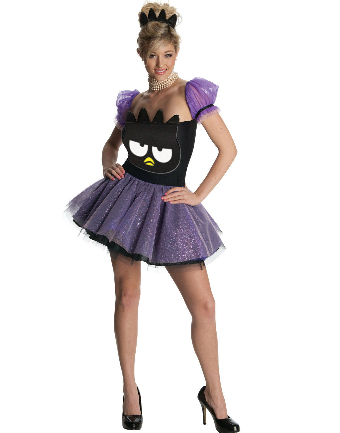 Sexy Mauve Badtz Maru Femmechot Femmechot Femmechot Robe Hello Kitty DéguiseHommes t Halloween Costume 8d30f7