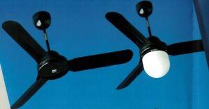 VORTICE Ventilatore da Soffitto a pale NERO Senza Telecomando cod. 61104