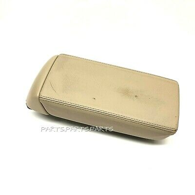Leather Armrest Center Box Console Lid Cover for Honda Accord 2003-2007 Tan