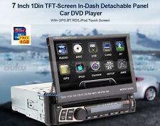 "Multimedia Single 1 Din 7"" Car DVD Player Stereo Radio GPS Navigation USB/SD/MAP"