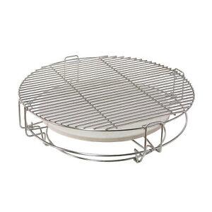 Divide-amp-Conquer-Grilleinsatz-fuer-23-Zoll-Keramikgrills-Grill-Keramik-BBQ-B-Ware