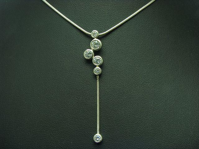 925 Sterling silver Kette & Anhänger mit Zirkonia Besatz   Esprit   43,0cm