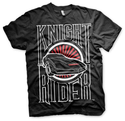 3XL 4XL Knight Rider con licencia oficial-Sunset K.i.t.t 5XL para hombre Camiseta