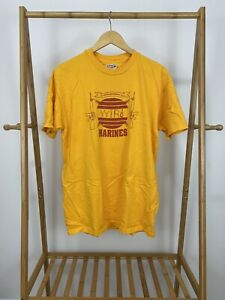 VTG-80s-Hanes-Marines-Communications-Company-Wire-Yellow-T-Shirt-Size-XL-USA