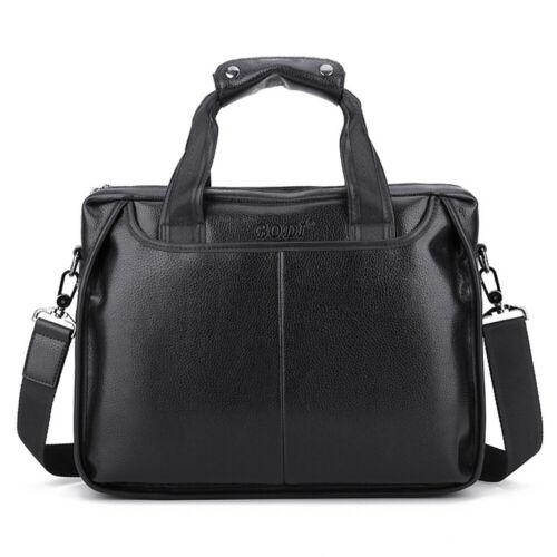 """Men Leather Handbag Business Satchel 17/"""" Laptop Briefcase Messenger Shoulder Bag"""