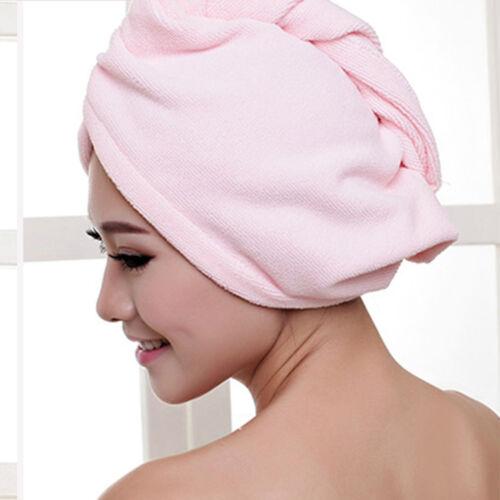 Quick Fast Dry Microfiber Towel Hair Magic Drying Turban Wrap Hat Cap Bathing US
