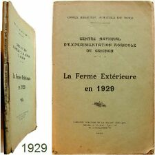 Grignon La ferme extérieure en 1929 expérimentation agricole agriculture céréale