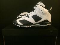Air Jordan 6 Retro Td Football Cleats - Size 8-12 - 645419-110 - Black/white