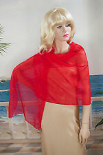 Long Sheer Chiffon Shawl Wrap Scarf Hijab Multicolors Wedding Bridal Prom - W178