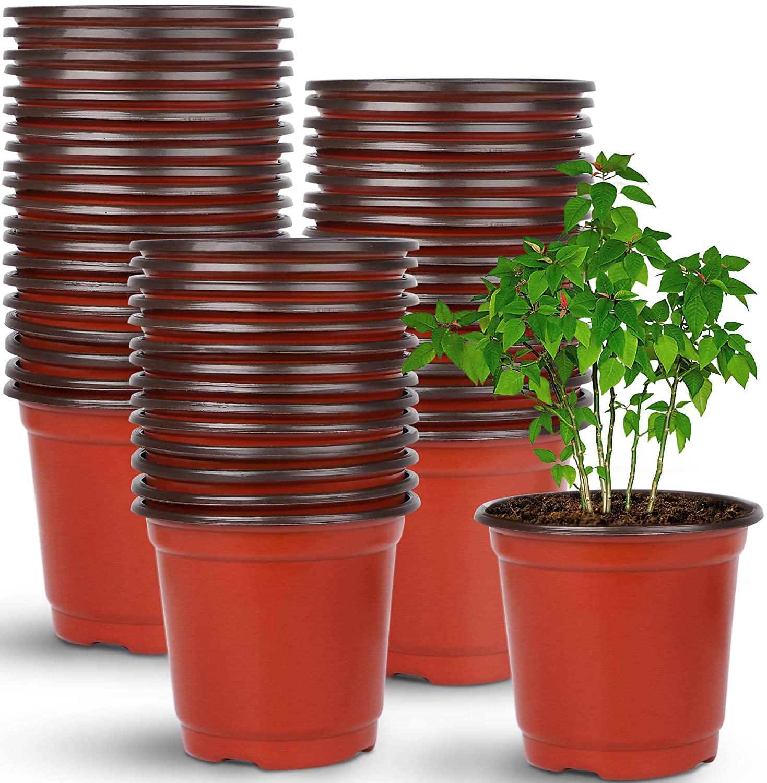 Plastic Nursery Pots Plastic Plants Seed Starting Drainage Holes 4 Inch 110 Pcs