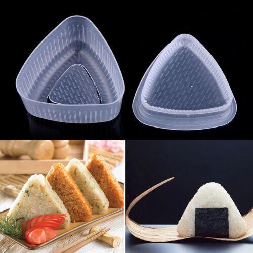 1 set Onigiri Rice Ball Bento Press Maker Mold Triangle Form Mold Sushi Maker