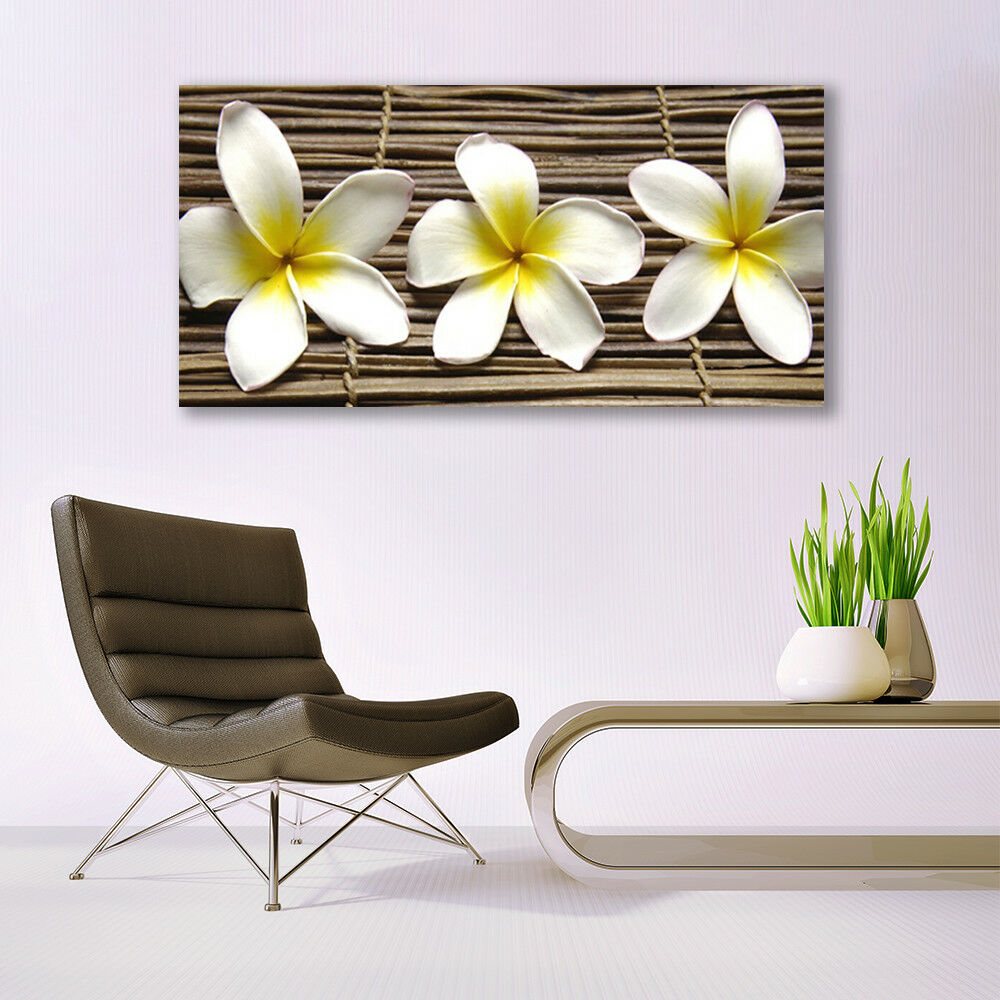 Glass print Wall Wall Wall art 140x70 Image Picture Flowers Floral 880fe1