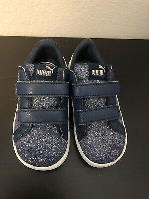 Toddler Girl Glitter Blue Puma Shoes