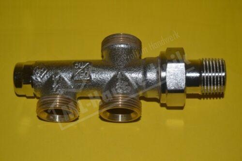 3801-02.000 Heimeier Verteiler DUOLUX M24 x 1.5 mm Absperrung vernickelt