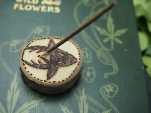 English Oak Wood Stag God Incense Joss Stick Holder - Pagan, Witchcraft, Wicca