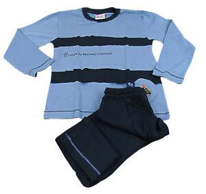 nuovo concetto f9261 491a3 Dettagli su Pigiama bambino bimbo BASSETTI caldo cotone 6/8 anni colore blu