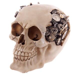 Totenkopf-Dekorationen-mit-Zahnraeder-Gothic-Skull-Schaedel-Mystik-11-5-cm-Fantasy