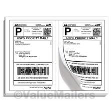 Labels Premium Mailing Shipping 85x55 Half Sheet Self Adhesive 100 10000 Usa