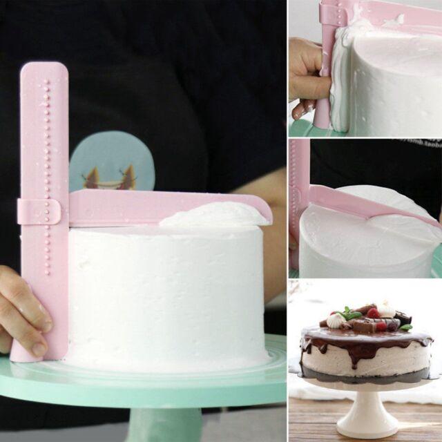 Plastic Adjust Cake Scraper Frosting Cream Smoother Fondant Pastry Decor Helper