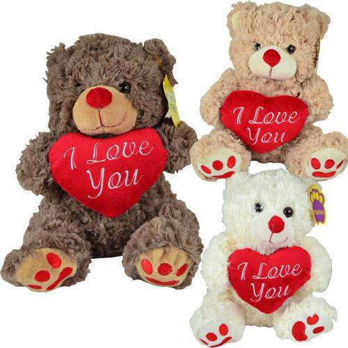 9  I LOVE YOU Bear Regalo Carino accogliente GIOCATTOLO PELUCHE MORBIDO Kids COCCOLONE Teddy Bears NUOVO