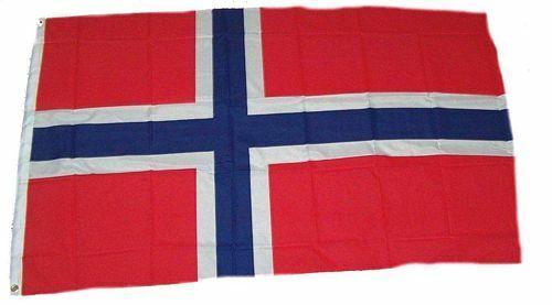 Flagge Fahne Norwegen Hissflagge 150 x 250 cm