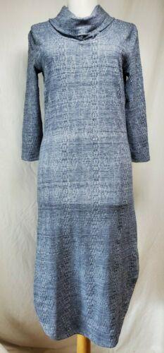 Saturday Sunday Chemise Knit Dress Sz XS Midi Blue