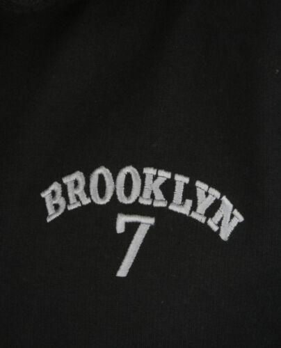nera ricamata Brooklyn cappuccio Collection con Felpa aqXEIw