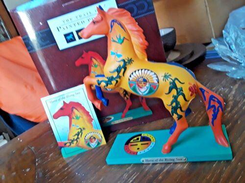 "Trail of Painted Ponies /""Horse of the Rising Sun/"" Jemez Pueblo Figurine Retired"