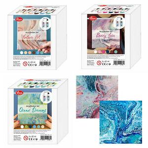 ACRYLFARBE-6-x-90-ml-guenstiges-Farbe-6er-Set-fuer-Pouring-Beton-uvm-VIVA-DECOR