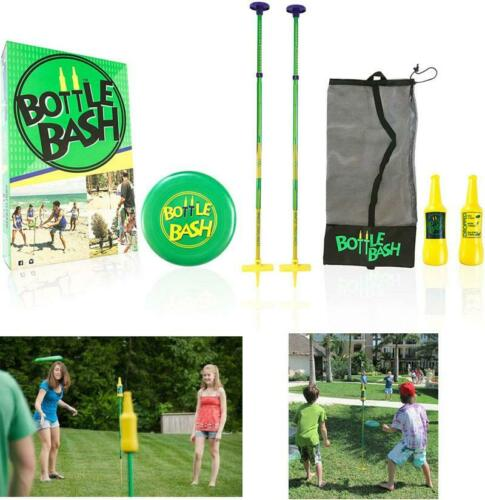 Bottle Bash Standard Outdoor Game Set New Fun Disc Toss Game for Family