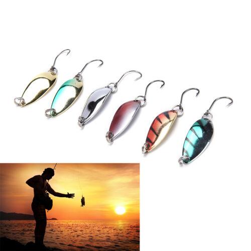 5pcs//lot 3g 58mm Spinner Spoon Fishing Lure Metal Lures Colorful Hard Baits bu