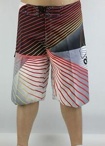 Men-039-s-Quiksilver-BoardShorts-Quick-Dry-Black-Grey-and-Red-Sizes-30-38