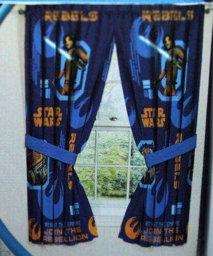 "STAR WARS REBELS MICROFIBER WINDOW PANELS 42/"" W X 63/"""