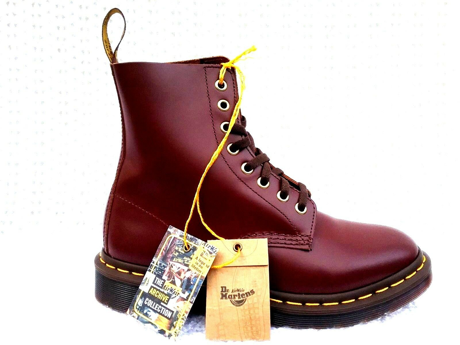 Dr Martens1460 Pascal Cherry Red Virginia Leather 6 Unisex Combat Boot M 6 Leather 7 W 7 8 9b3ab1