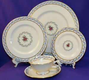 Image is loading 5-PC-PLACE-SETTING-LENOX-THE-FAIRMOUNT-CHINA- & 5 PC PLACE SETTING LENOX (THE) FAIRMOUNT CHINA DINNERWARE T-3 PINK ...