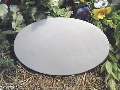 Plaster Concrete Oval plaque plain Plastic Mold garden mould
